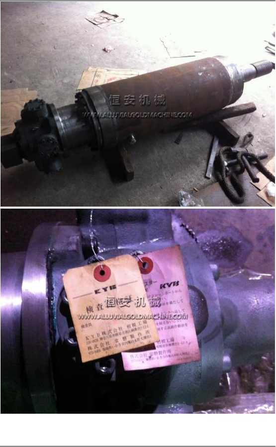 hydraulic motor for cutter head